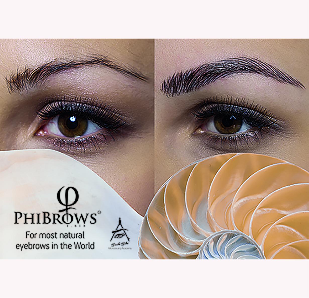 1) PHIBROWS – 3D EYEBROWS MICROBLADING Technique